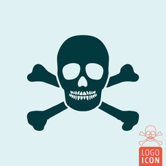 Jolly roger icon isolated