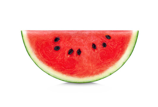 Sliced of watermelon isolated on white background.