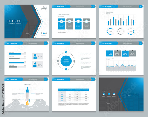 presentation background design template with infographic elements