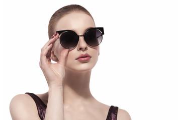 fashion portrait woman in glasses