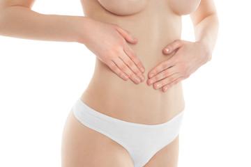 stomach-ache woman body