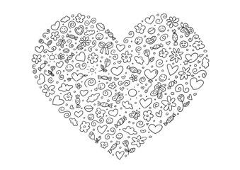 Ausmalbild Herz