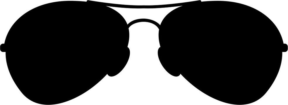 Aviator Sunglasses in Silhouette