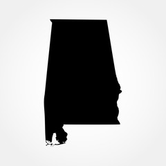 map of the U.S. state of Alabama