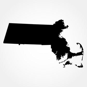 map of the U.S. state  Massachusetts