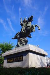 戦国武将の銅像