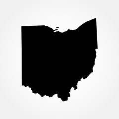 map of the U.S. state of Ohio