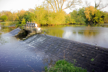 Water scene in the countryside parks