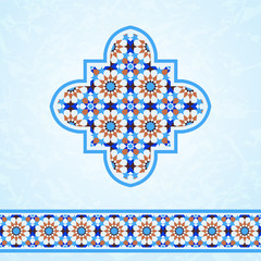 Moroccan mosaic design elements