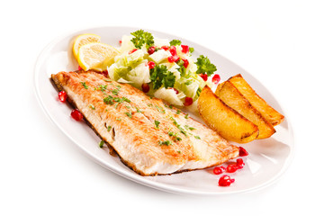 Fish dish - fish fillet and vegetables
