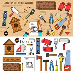 Handmade with wood