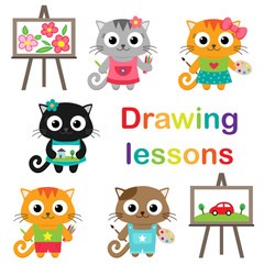 Cats learning to draw