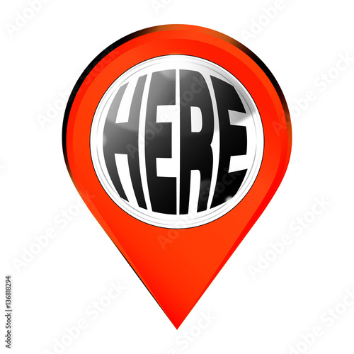 """We are here pin marker"" Stock photo and royalty-free ..."