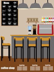 Coffee shop Interior Vecto