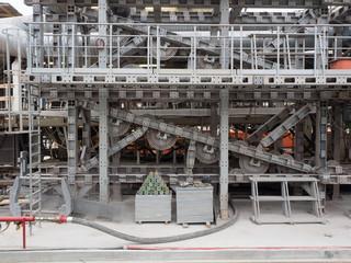 Detail einer Tunnelbohrmaschine