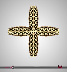 Celtic pattern. Cross. Vector ornament. Design element