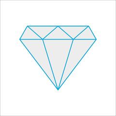 Diamond simple flat icon on background