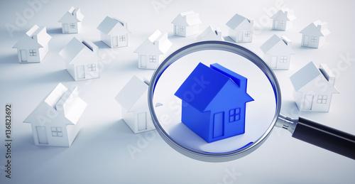 Immobilien suche blaues haus 2 stockfotos und for Immobiliensuche privat