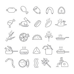 Icons with meat dishes.