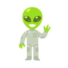 Cartoon alien drawing