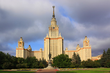 Moscow. The main Building of the Moscow State University named Mikhail Lomonosov