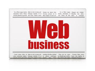 Web design concept: newspaper headline Web Business
