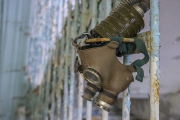 Infected radiation masks, Chernobyl Exclusion Zone