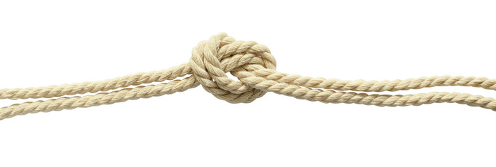 Beige cotton rope knot