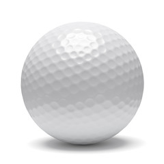 Golf ball with shadow