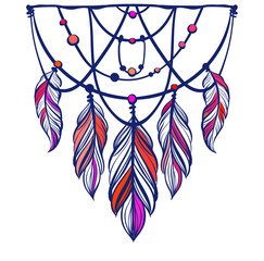 Ethnic Dreamcatcher with mandala