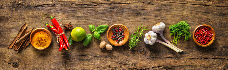 Canvas Prints Spices Various herbs and spices