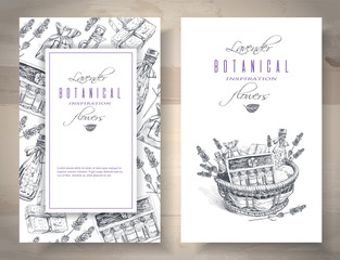 Lavender graphic banners