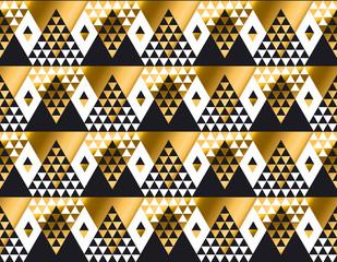 triangle shape geometric African tribal seamless pattern in luxu