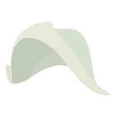 Fisherman hat icon , cartoon style