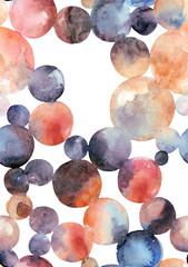 Abstract watercolor circles