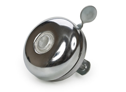 Kid's bike bell isolated on a white