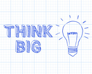 Think Big Light Bulb Graph Paper