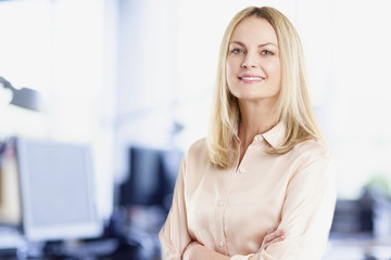 Executive professional businesswoman working at office