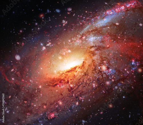 Colorful spiral galaxy in outer space elements of this for Outer space elements