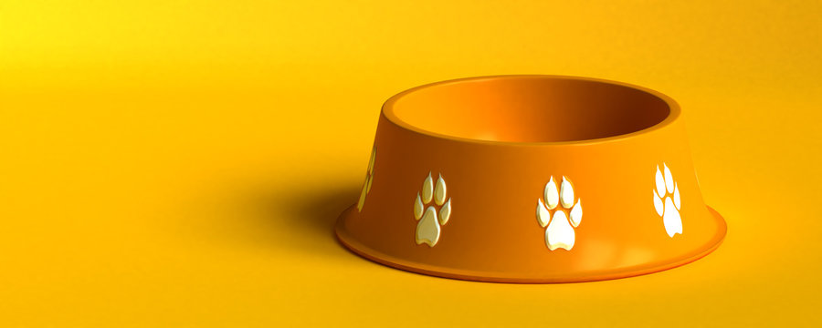 orange dog bowl