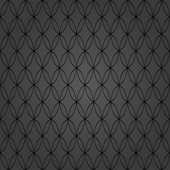 Seamless dark background for your designs. Modern vector ornament. Geometric abstract pattern