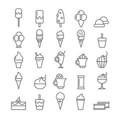 Icons with ice cream.