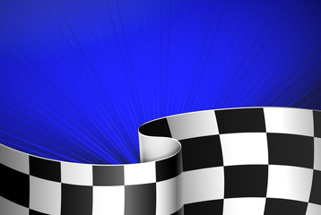 Blue racing background