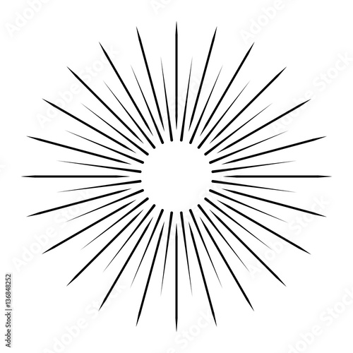Line Drawing Sun Vector : Quot sun rays on a white background line drawing stock