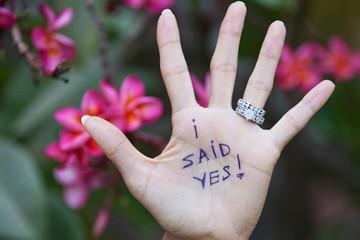 Woman said yes