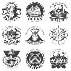 Vintage Sailor Naval Label Set