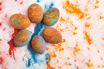 Easter Eggs. Sunday. Easter. Happy Holidays. Christian holiday. Religion. Tradition. Easter background.