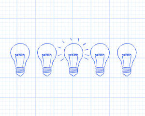 Light Bulbs Graph Paper