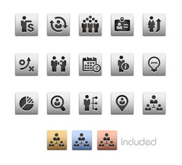 Business Efficiency Icons - The vector file includes 4 color versions for each icon in different layers.