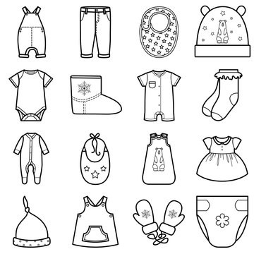 Baby clothes set.